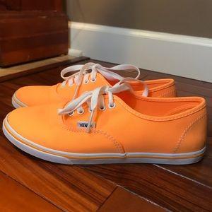 Vans women's 8 men's 6 1/2 orange tie on shoes